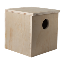 "Nest Box Cube Box 7"" w/egg depression"